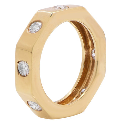 .80 Carat Diamond 18 Karat Yellow Gold Wedding Band