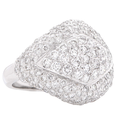 2.5 Carat Diamonds White Gold Cluster Ring