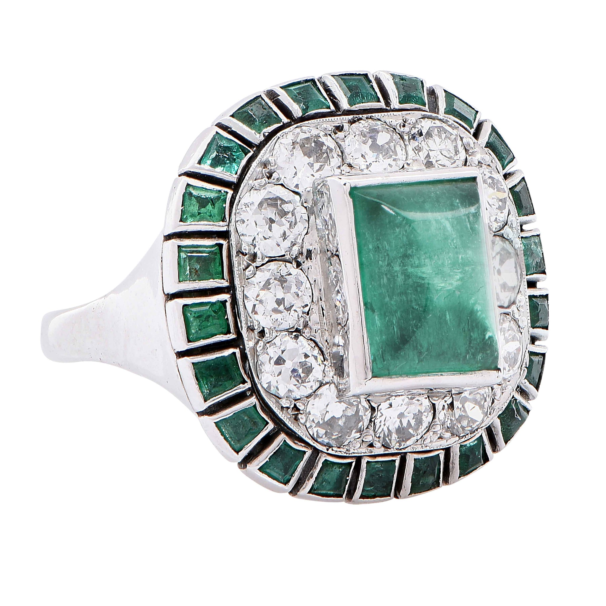 regent gold emerald ring miracle side white diamond mile products on band glr jewelers