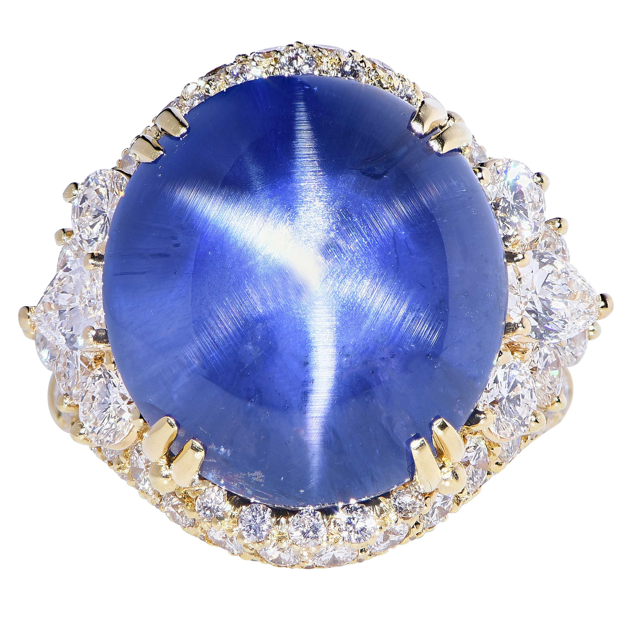 sapphire pin via etsy blue star pretty natural ring