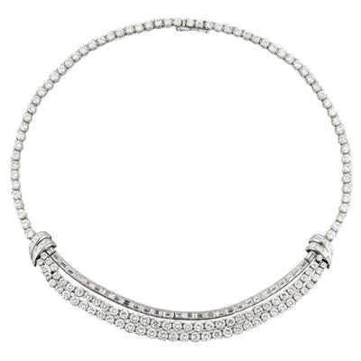 16 Carat Diamond Platinum Necklace