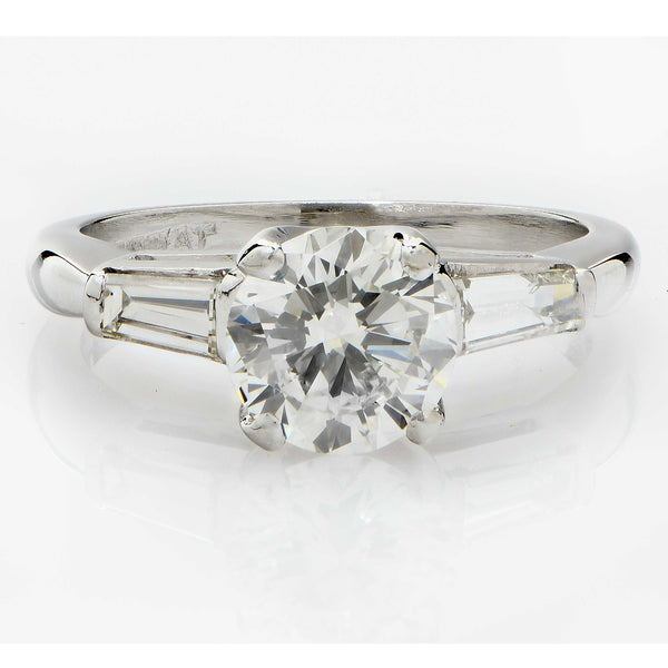 1.19 Carat GIA Graded Platinum Diamond Engagement Ring