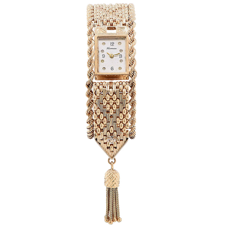Tourneau Ladies Yellow Gold Mystery Tassel Wristwatch