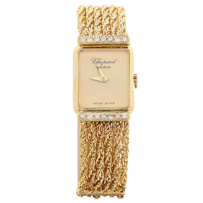 Chopard Ladies Yellow Gold Diamonds Mechanical Wristwatch