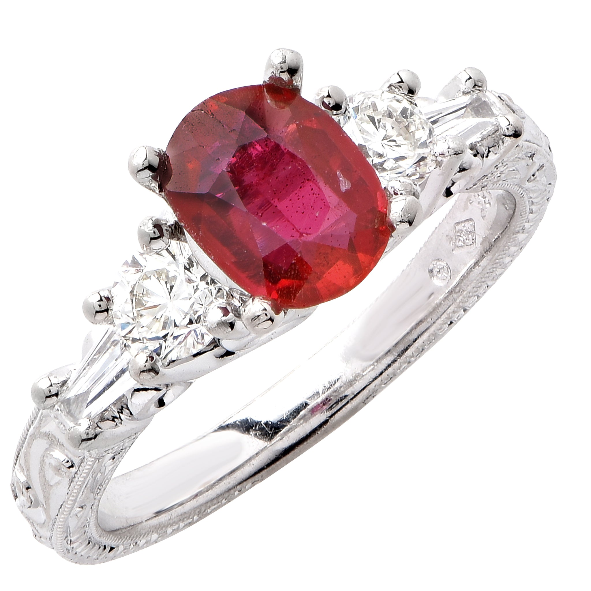 and rings white pin carats engagement solid natural diamond ruby ring gold