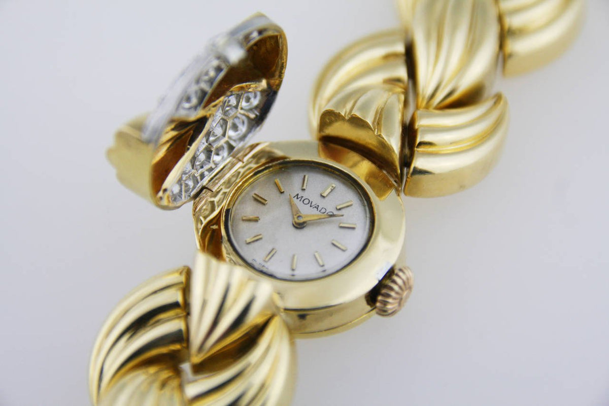 Van Cleef & Arpels Gold and Diamond Concealed Dial Bracelet Wristwatch