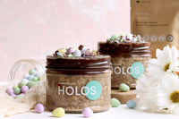 Double dark choco Mini Egg overnight muesli
