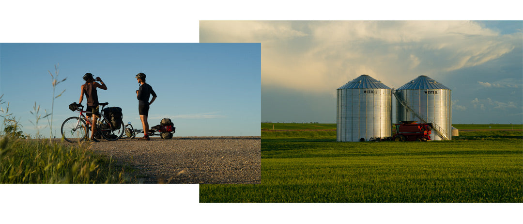 Caroline Côté and friends discovering the Canadian Prairies landscape