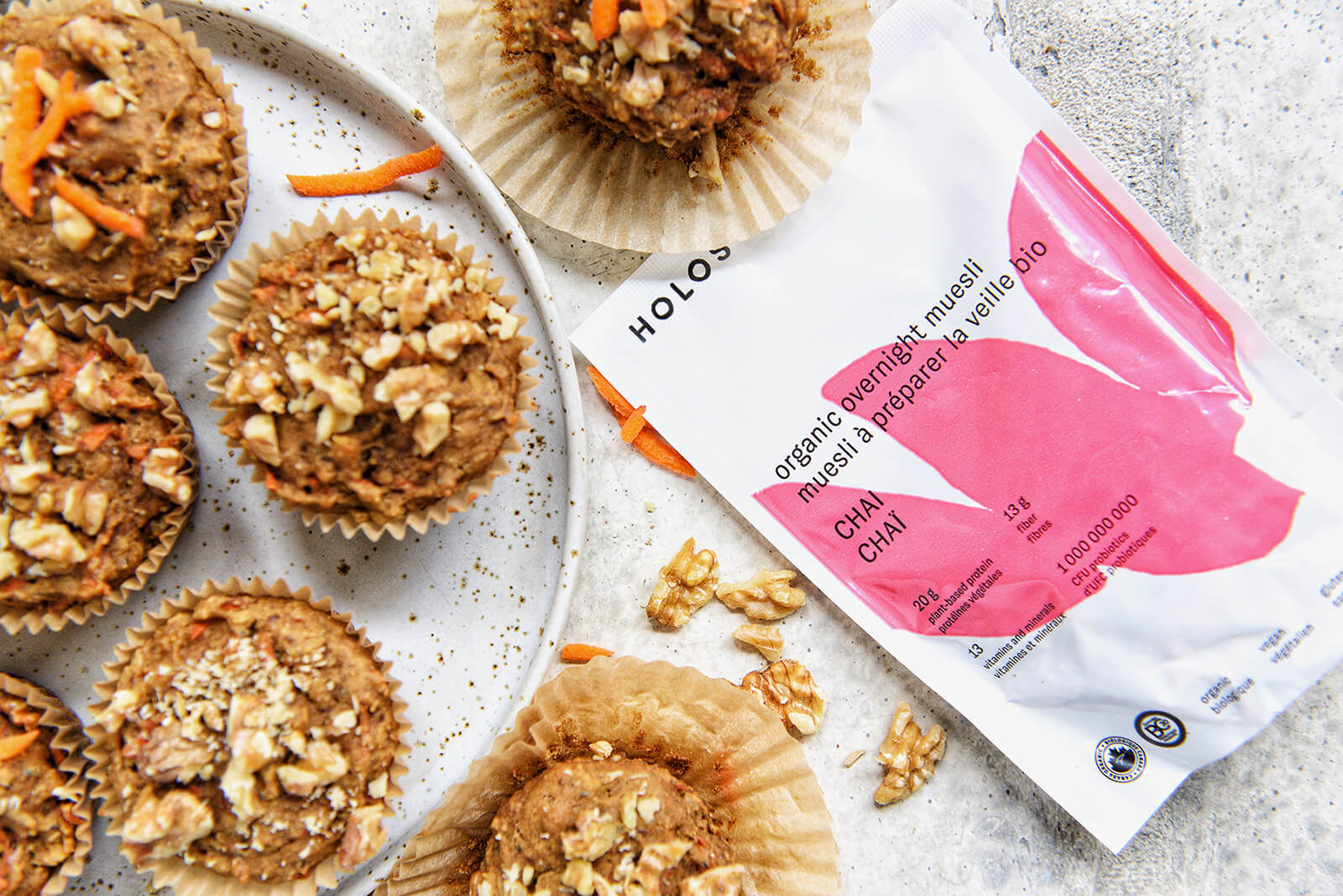 HOLOS Carrot Chai Muffins