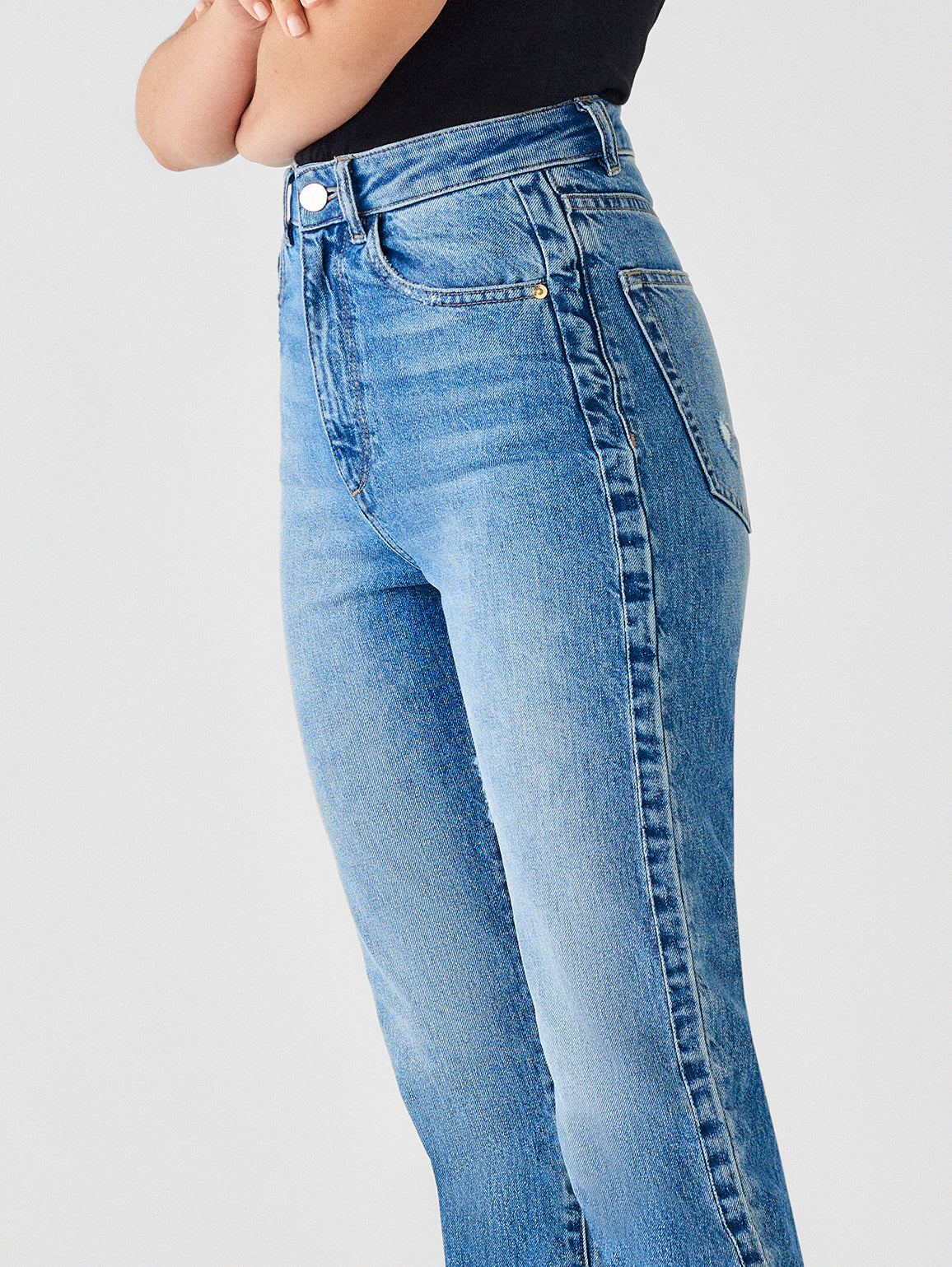 Susie High Rise Tapered Straight   Addison