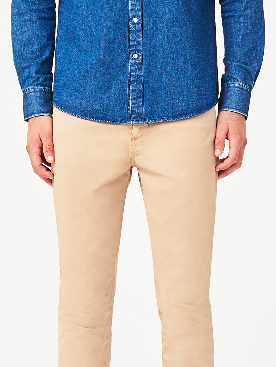 Men - Light Khaki Denim - Avery Straight Milestone - DL1961