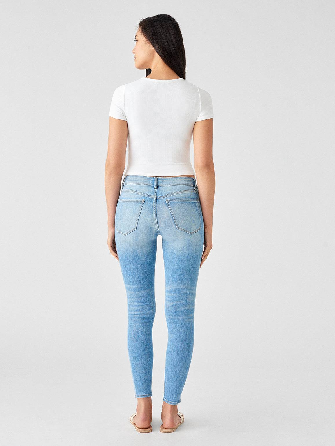 Florence Ankle Mid Rise Skinny | Saltillo