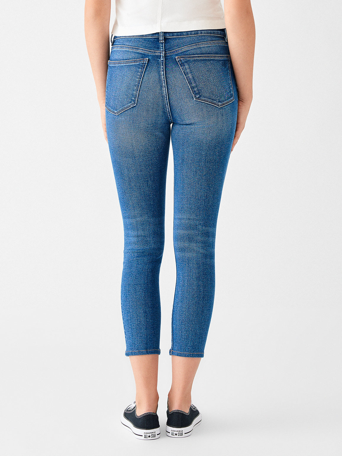 Farrow Crop High Rise Skinny | Salt Lake