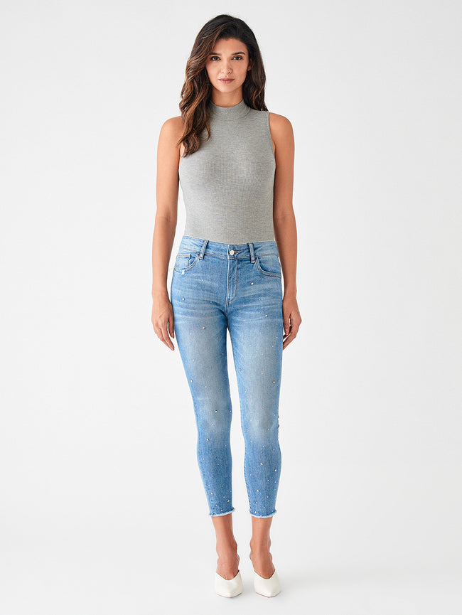 Florence Crop Mid Rise Instasculpt Skinny | Fulton