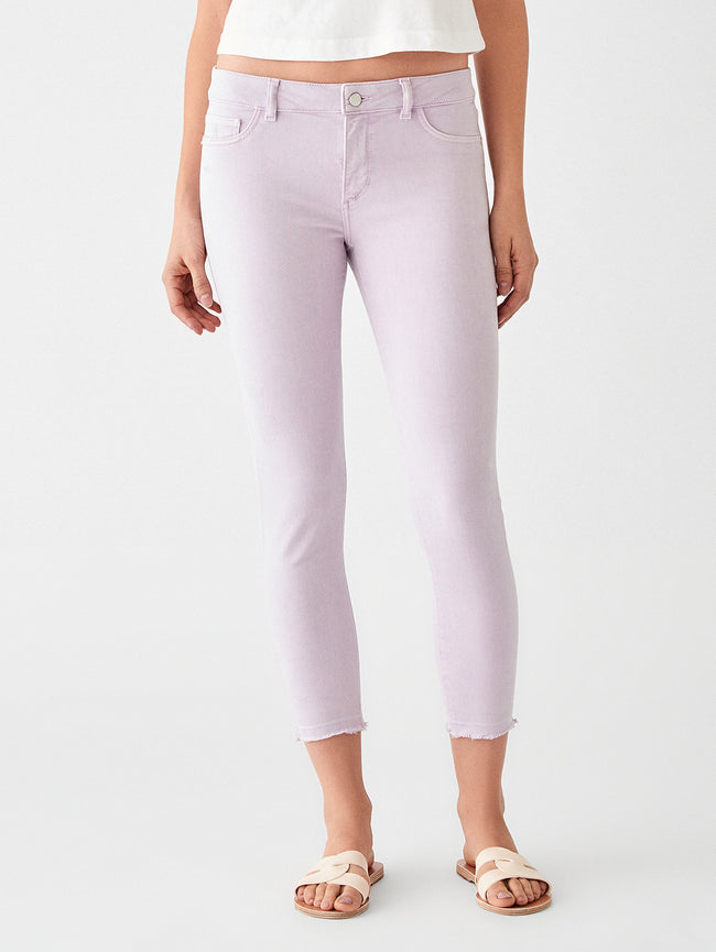 Florence Crop Mid Rise Skinny | Orchid