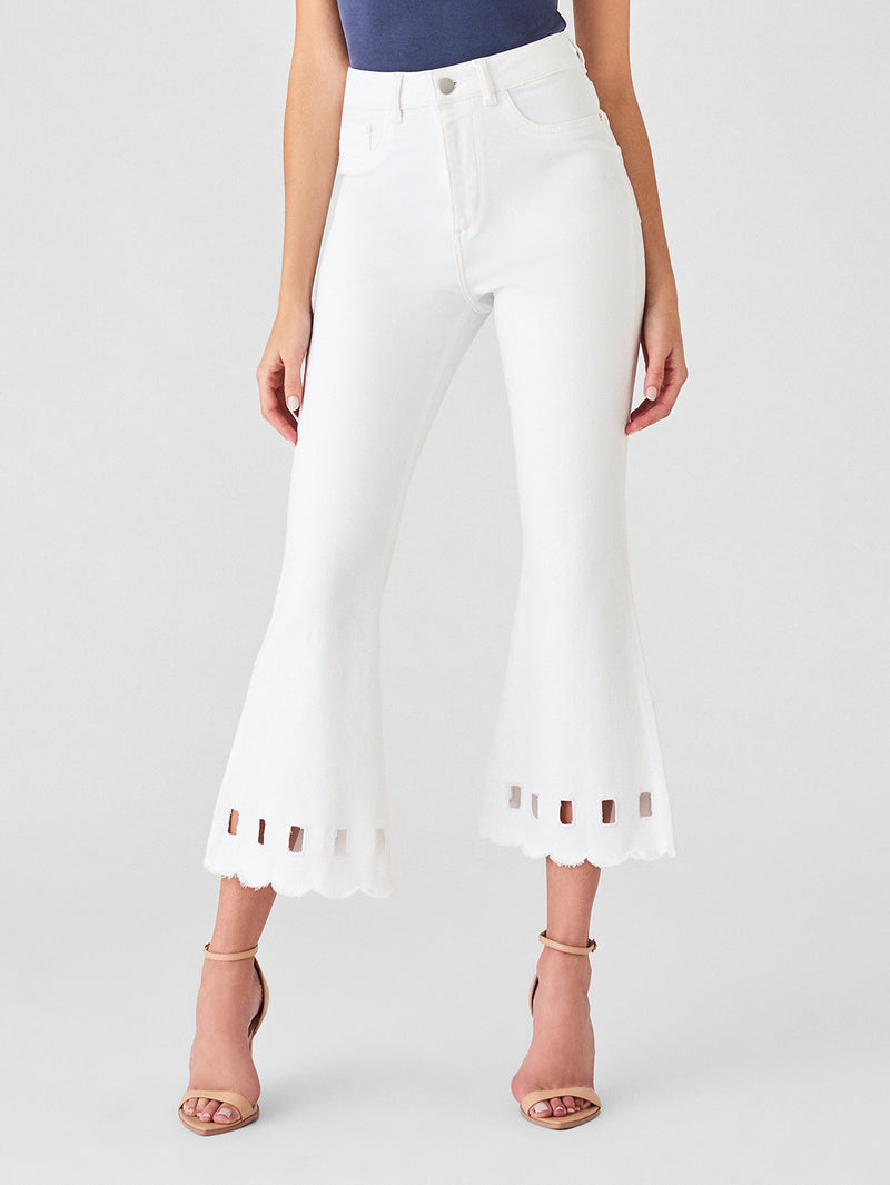 Hepburn Crop High Rise Wide Leg | Amalfi