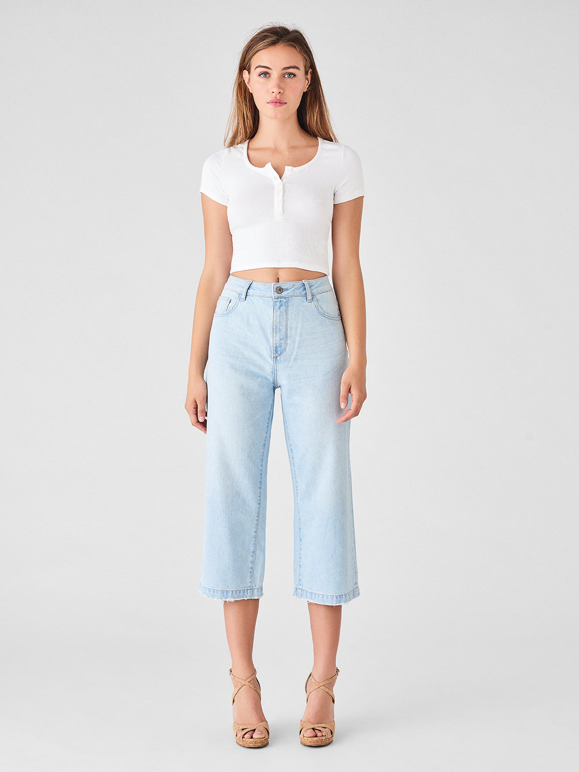 Hepburn Crop High Rise Wide Leg | Ibiza