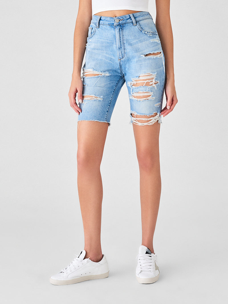 Cleo High Rise Short | Acid Pink