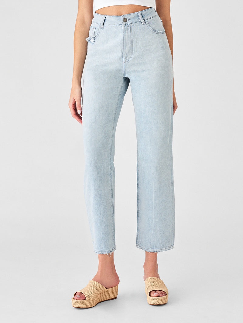 Hepburn High Rise Wide Leg | Slate