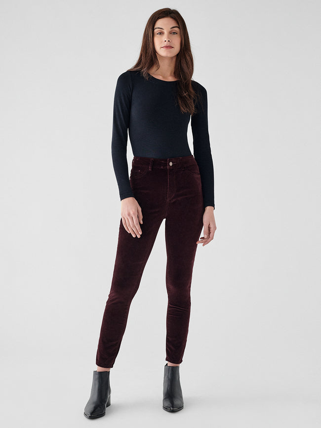 Farrow Ankle High Rise Instasculpt Skinny | Bordeaux