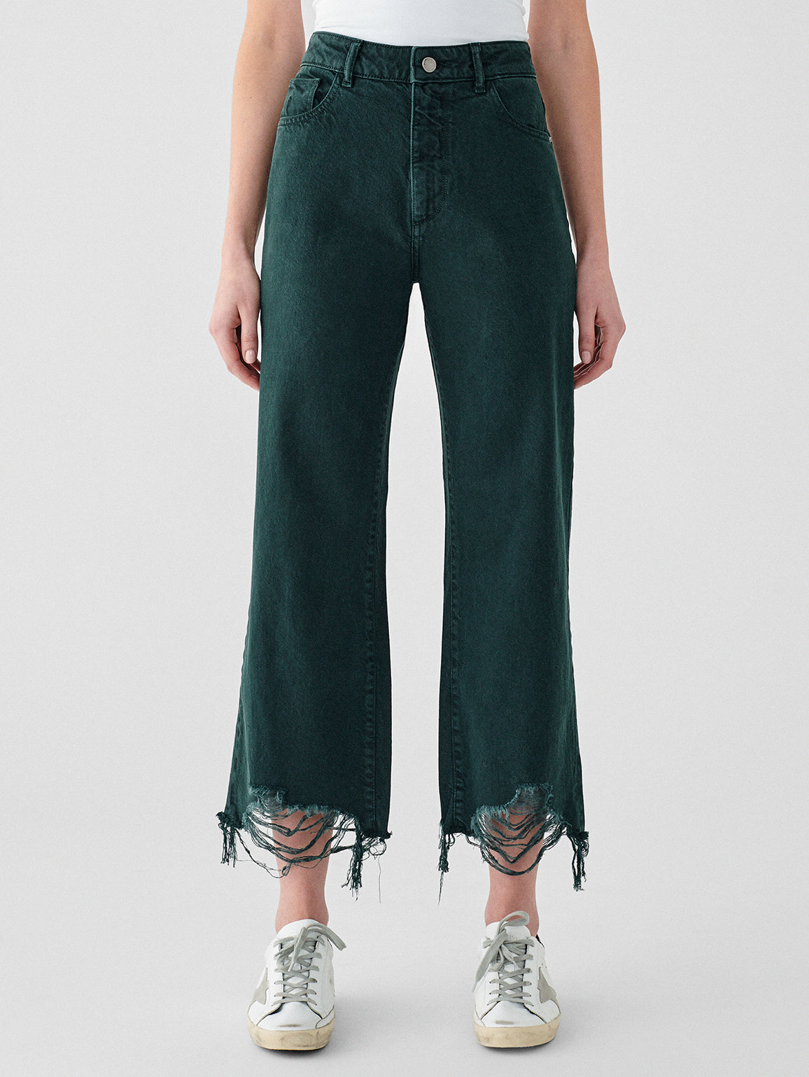 Hepburn Wide Leg High Rise Vintage | Dark Forest