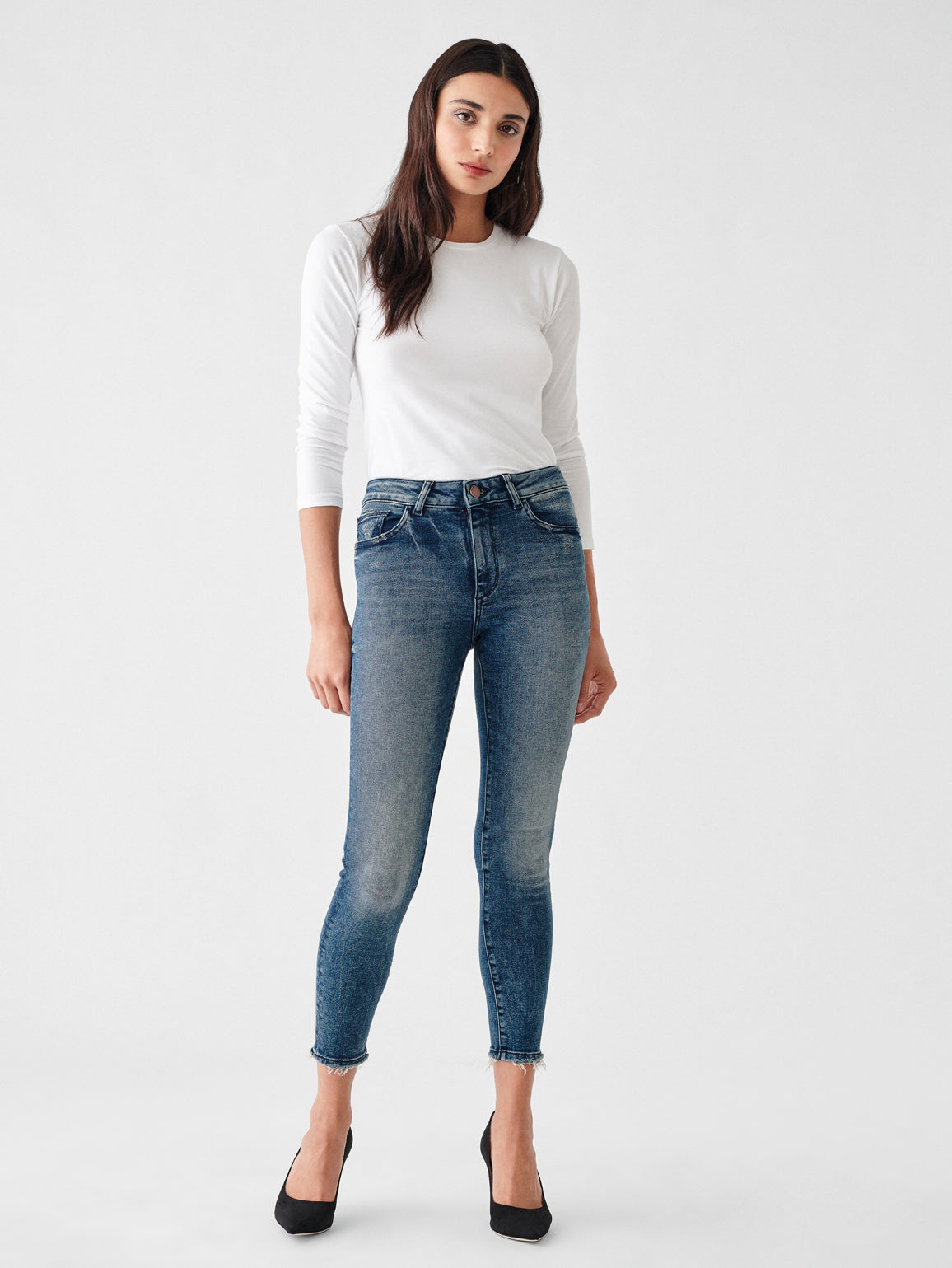 Florence Crop Mid Rise Skinny | Truman