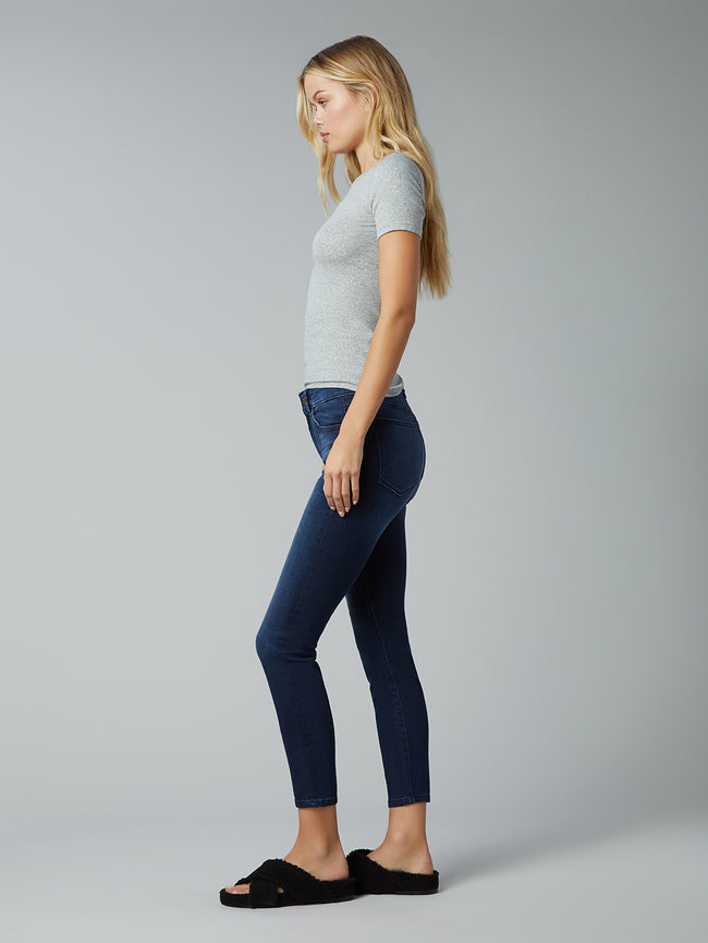 Florence Skinny Mid Rise Instasculpt Crop | Morgana