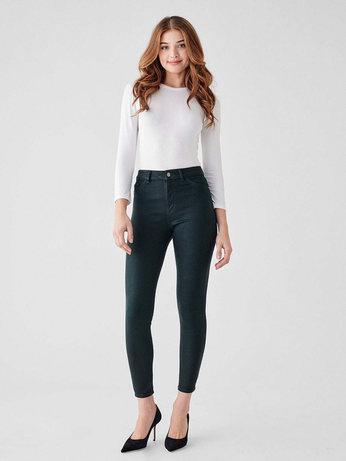 Farrow Ankle High Rise Skinny | Deep Green