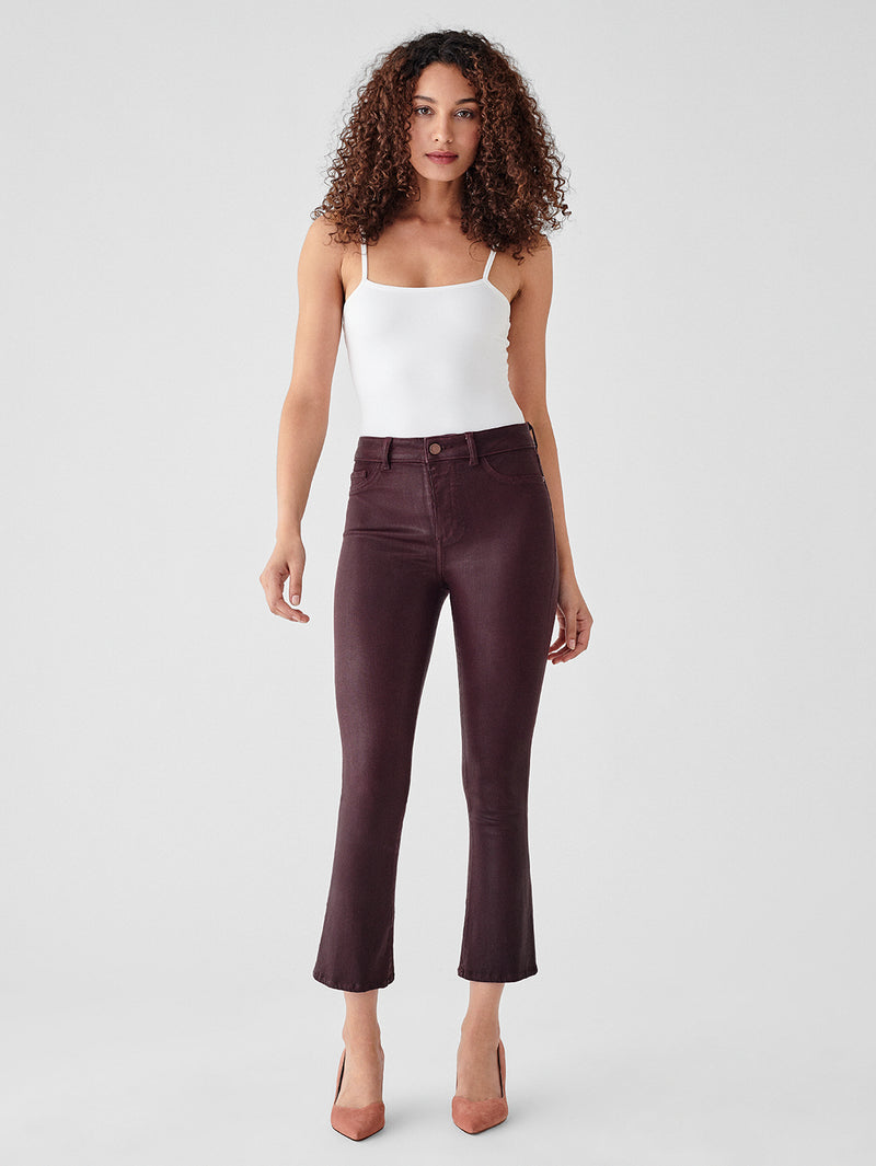 Bridget Crop High Rise Bootcut | Redwood