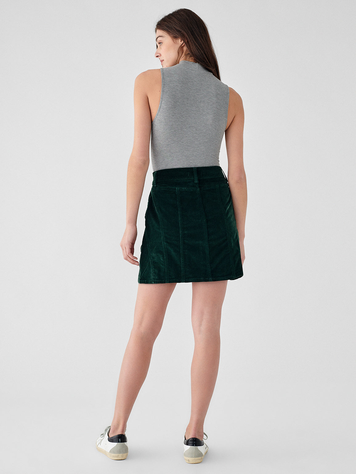 Georgia High Rise Skirt | Pine Green