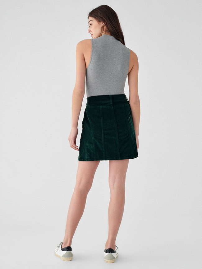 Georgia Skirt High Rise | Pine Green