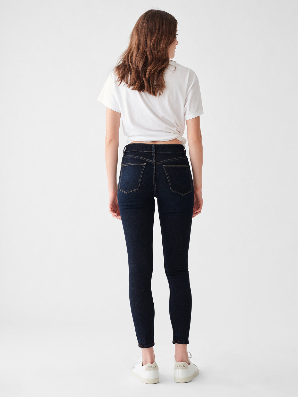 Florence Ankle Mid Rise Skinny | Mesquite