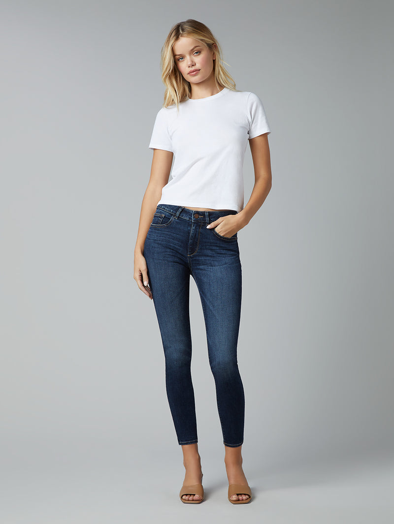 Florence Skinny Mid Rise Instasculpt Crop | Hail