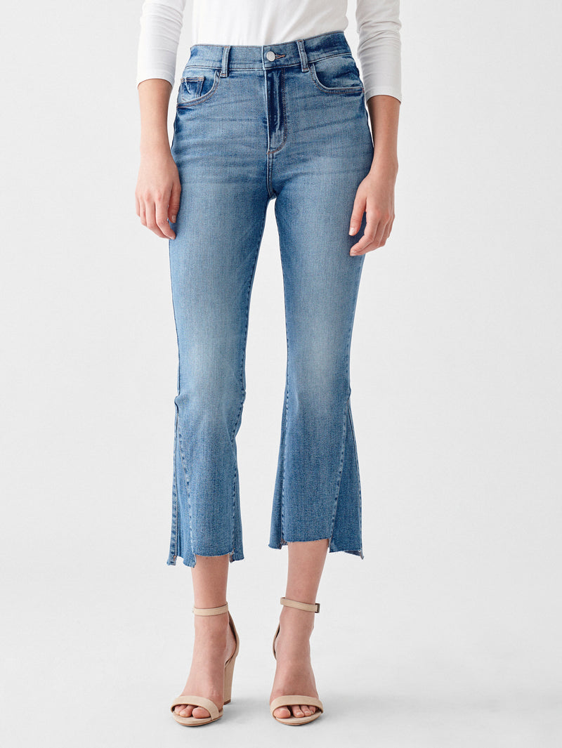 Bridget Crop High Rise Bootcut | Plum Berry