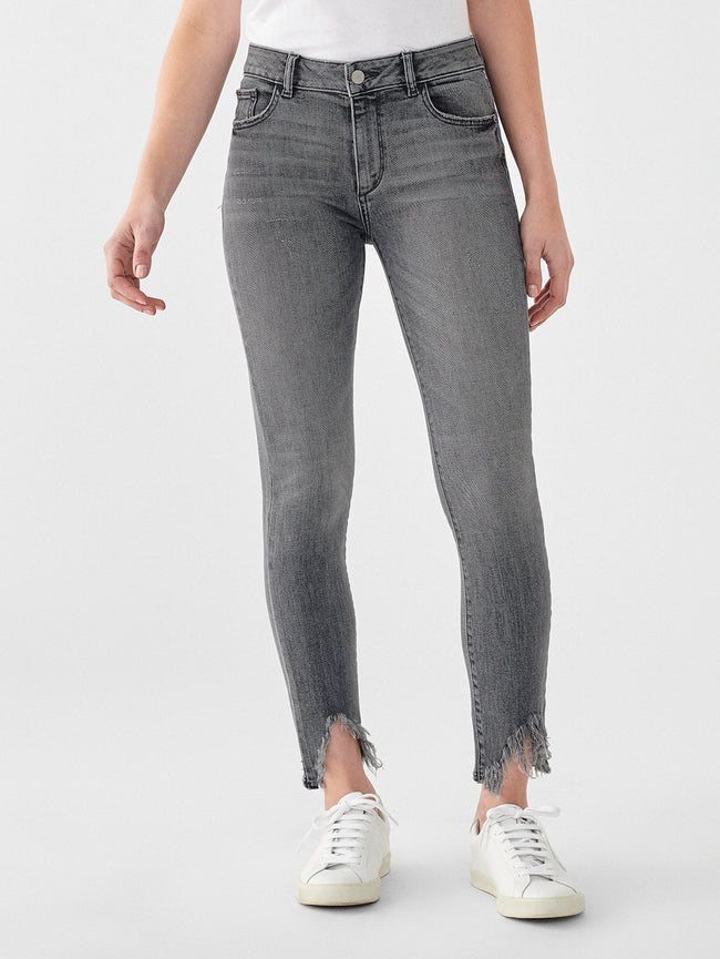 Florence Ankle Mid Rise Skinny | Flint
