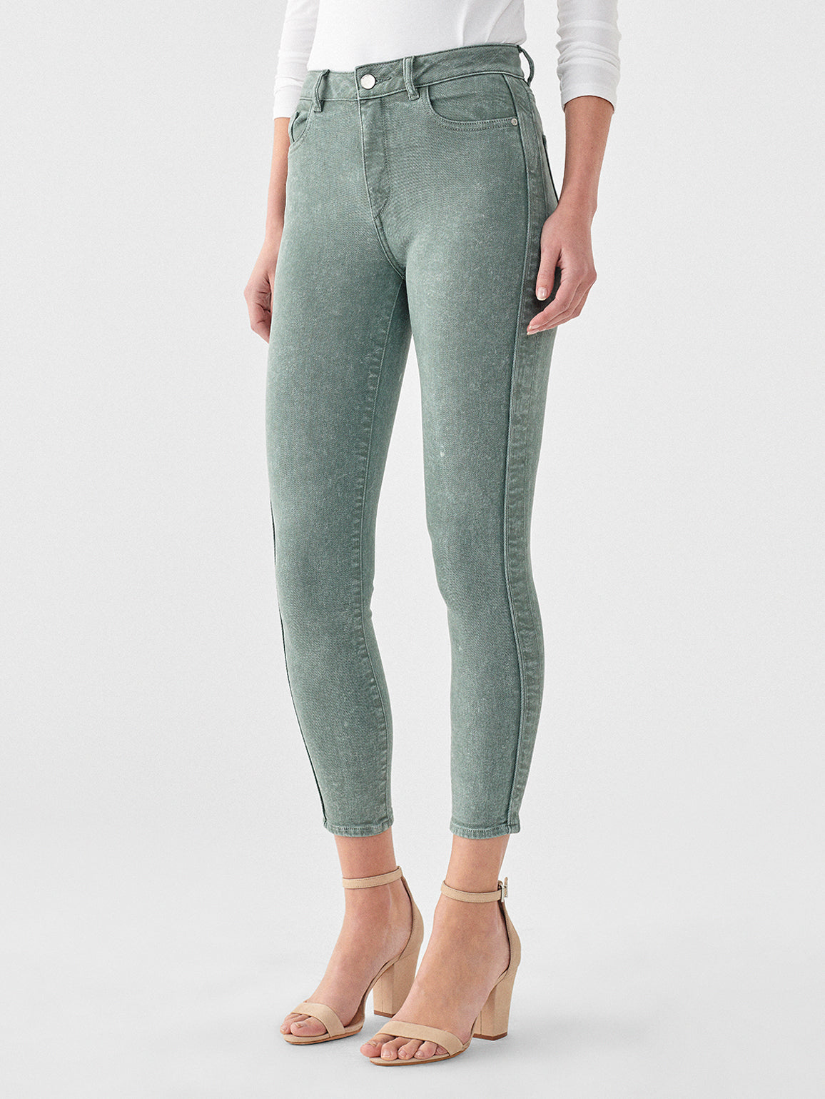 Farrow Crop High Rise Instasculpt Skinny | Acid Sage