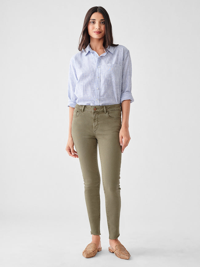 Florence Ankle Mid Rise Skinny | Fatigue