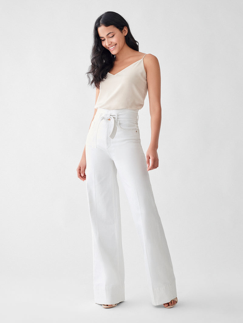 Hepburn High Rise Wide Leg | Dark Forest