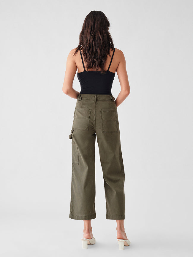 Hepburn High Rise Wide Leg | Fern