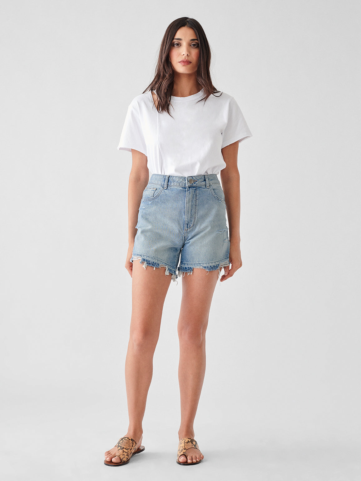 Hepburn High Rise Wide Leg Short | Millie