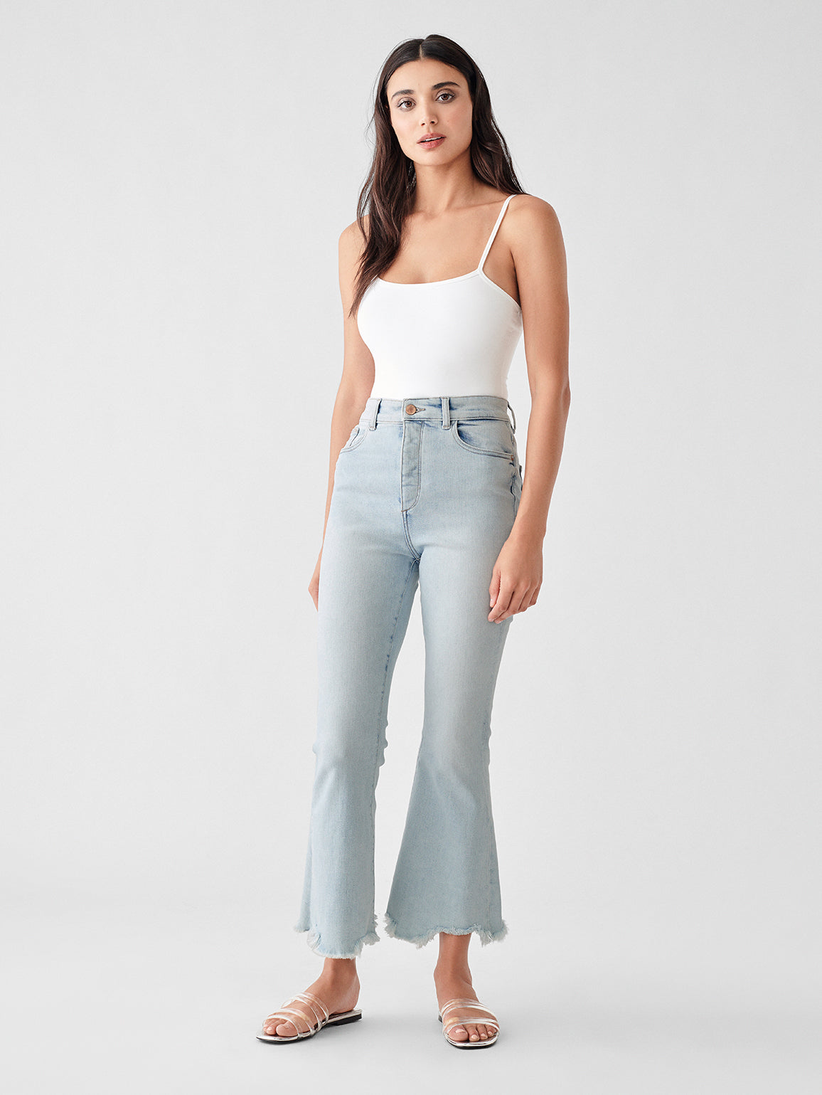 Rachel Crop High Rise Flare | Simpson