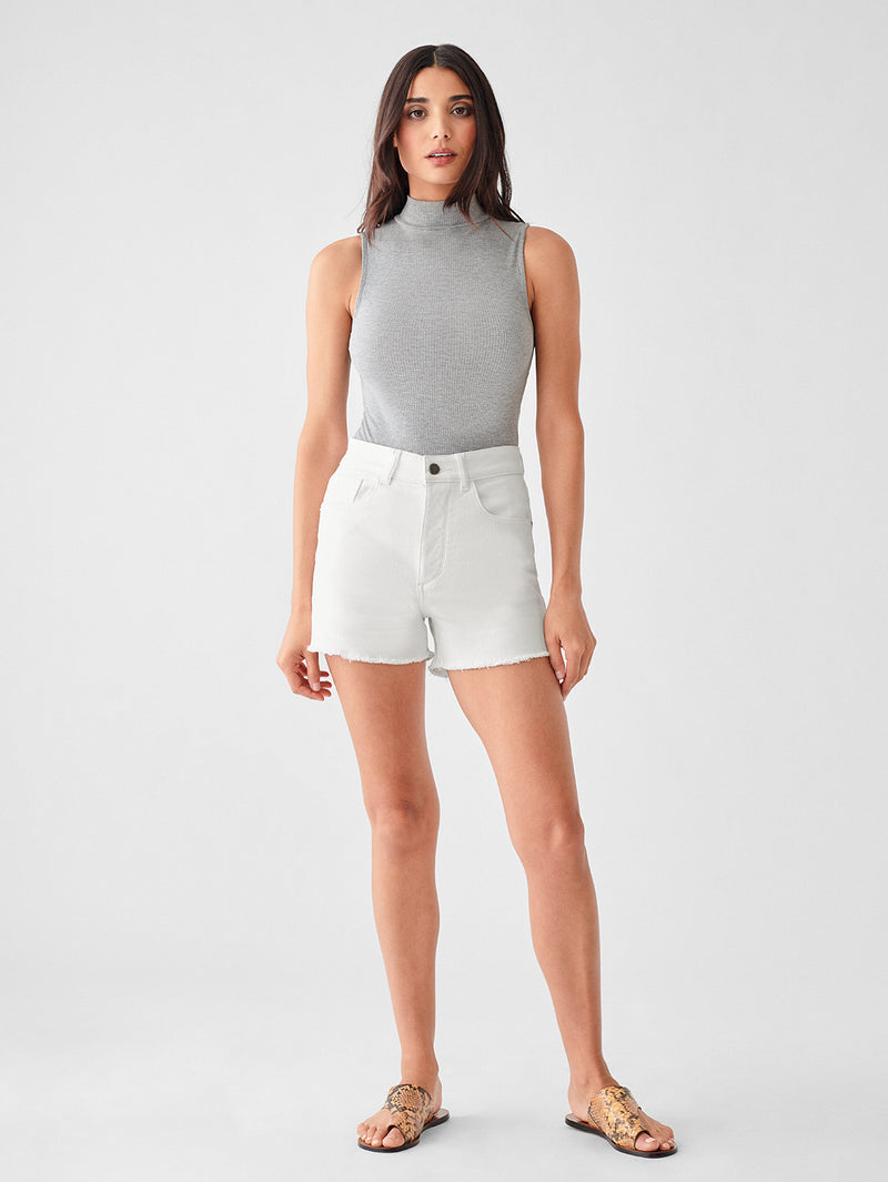 Hepburn High Rise Wide Leg Short | Mystic
