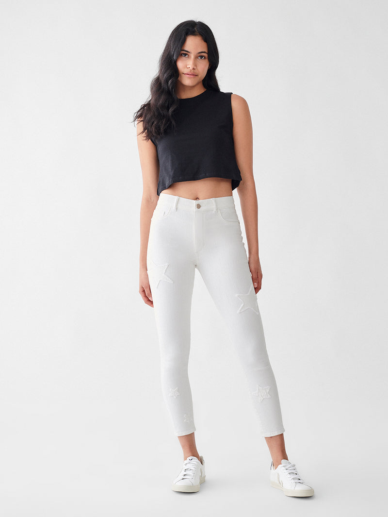 Florence Skinny Mid Rise Instasculpt Crop | Marina