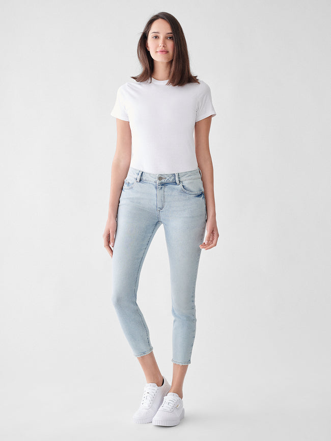 Florence Skinny Mid Rise Instasculpt Crop | Wallford