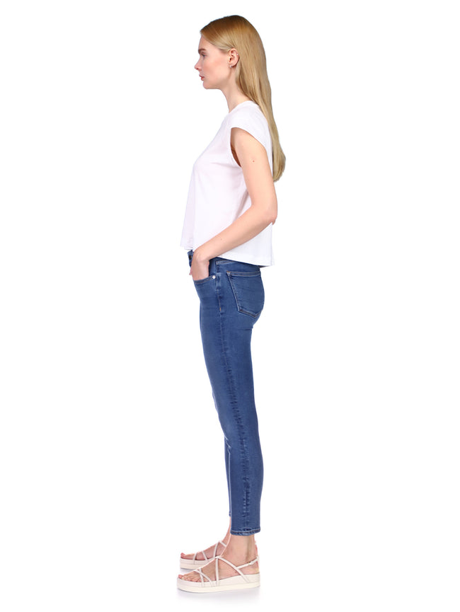 Florence Skinny Mid Rise Instasculpt Crop | Blue Bell