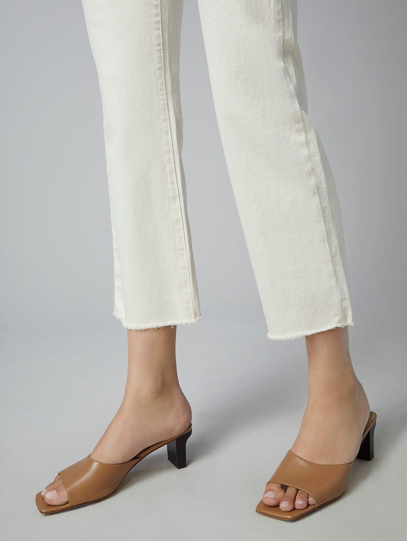 Patti Straight High Rise Vintage Ankle | Ecru
