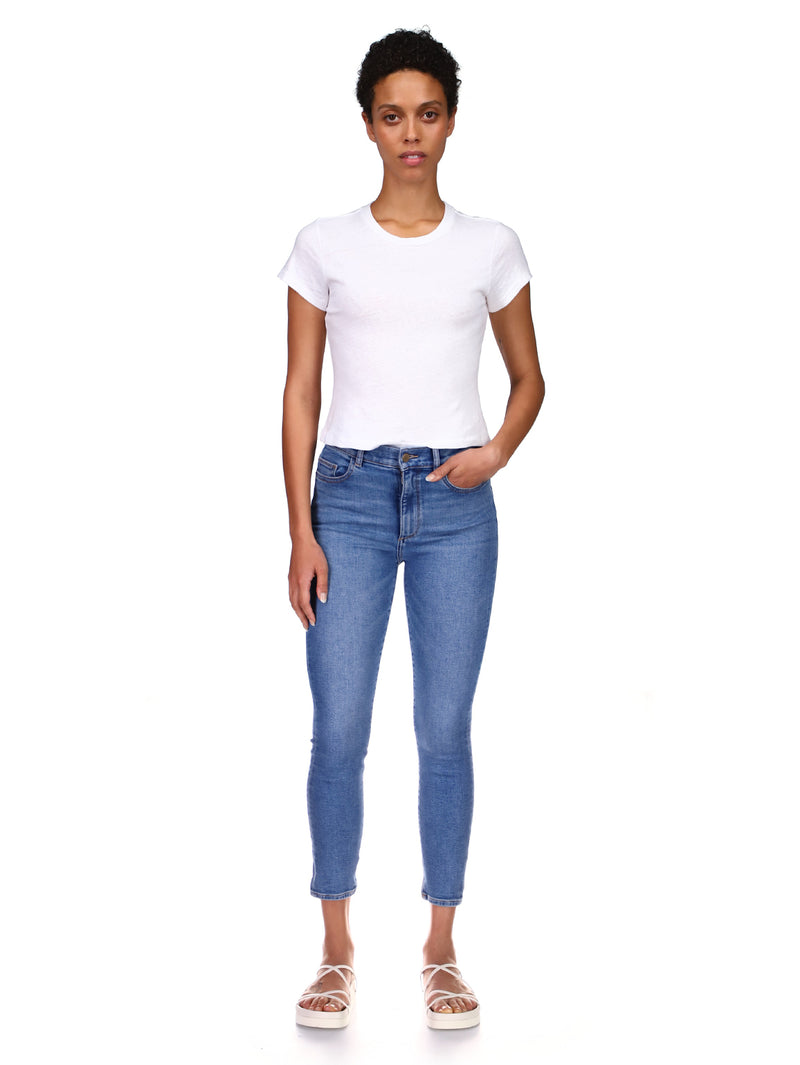 Farrow Skinny High Rise Instasculpt Crop | Milk Raw