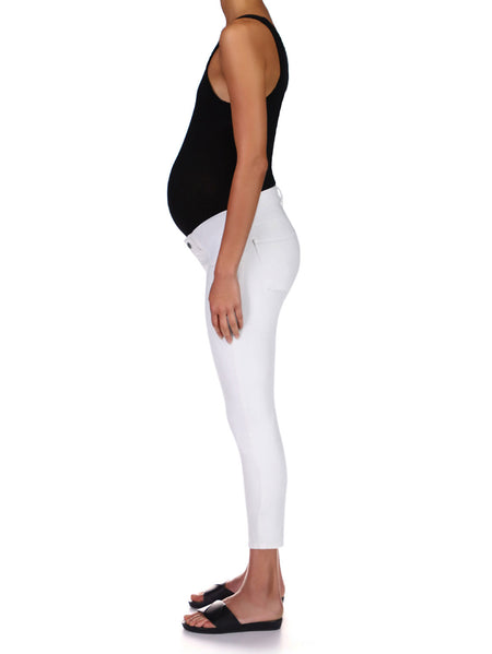 Florence Skinny Maternity Instasculpt Crop | Milk