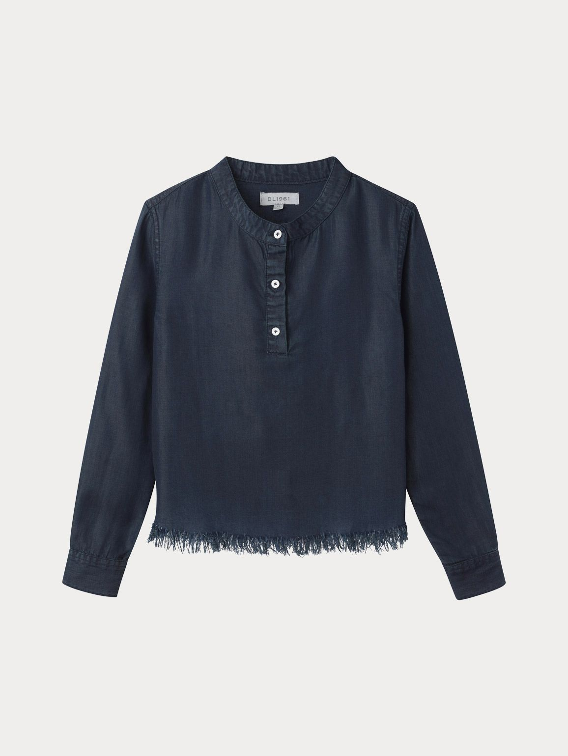 Marnie Long Sleeve Top | Washed Black Overdye