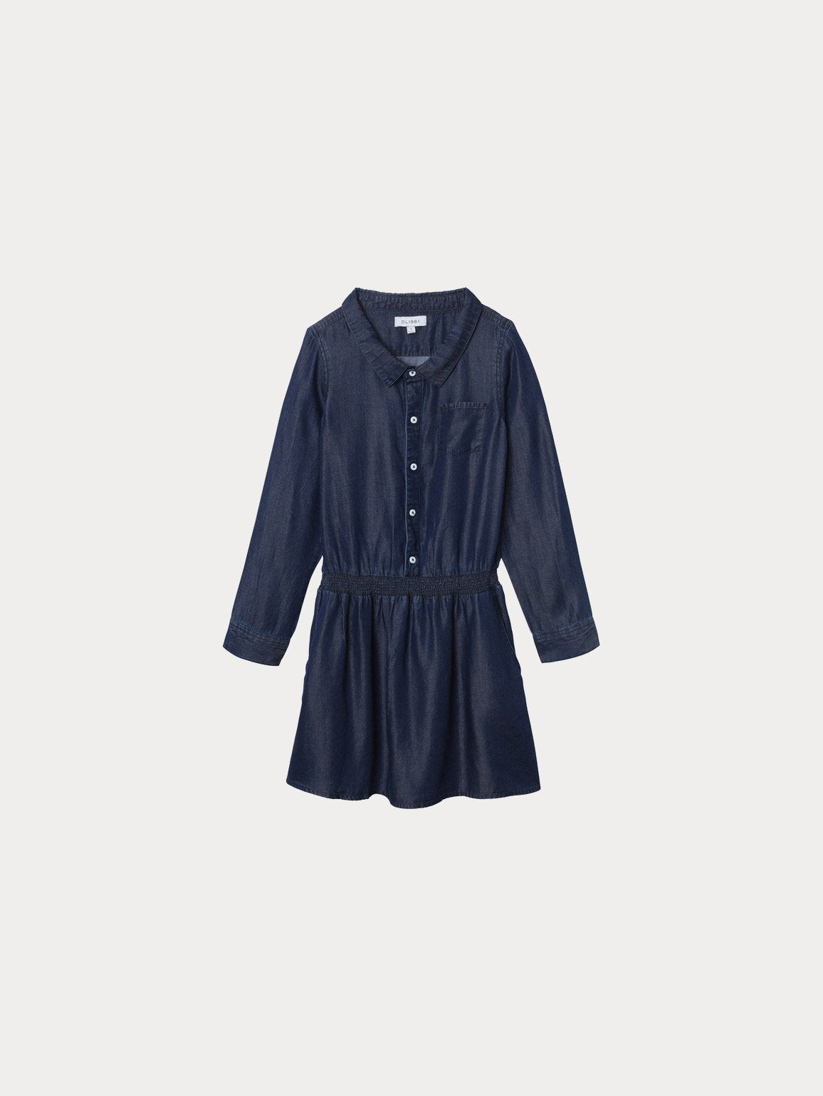 London Toddler Dress | Dark Rinse